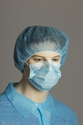 Picture of OUT OF STOCK - Face Mask Pleated Tie Back  BLUE Surgical-APPR490660- (CTN-1000)