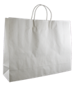 Picture of ***IL***Carry Bag white Paper Twist Handle 350 x 450 + 125 Landscape/Boutique 110gsm-CARB063830- (SLV-50)