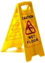 "Picture of Sign Yellow Caution Wet Floor - Cleaning in Progress ""A"" Frame-CLEA384550- (EA)"