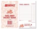 Picture of Takeaway Docket Books 95mm x 148mm TD351  100s-DKTB338250- (SLV-5)