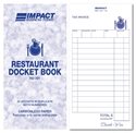 Picture of Restaurant Docket Books Duplicate 83mm x 165mm RD301 50s-DKTB338350- (SLV-5)