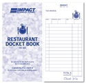 Picture of Restaurant Docket Books Triplicate 83mm x 165mm RD302  50s-DKTB338400- (CTN-100)