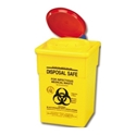 Picture of Sharps Disposal Safes 2LT With Lid Yellow -FAID805370- (EA)
