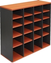 Picture of Pigeon Hole unit 20 Hole - 1040 x 1040 x 380mm - Colour: Beech / Ironstone-FURN358900- (EA)