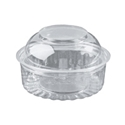 Picture of Food/Show Bowl Clear Plastic 8oz Dome Lid 240ml apprx-HCON148450- (SLV-25)