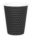 Picture of Black 8oz Dimple Coffee Cups-HCUP107950- (CTN-500)
