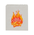 "Picture of Paper Bag Greaseproof 1 Flat ""Hot Chips"" Print - 200mm  x 140mm-PAPB058700- (SLV-1000)"