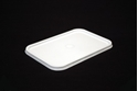 Picture of Premium Rectangle Freezer Grade Lid to fit Ribbed Plastic Container - WHITE - Genfac -PCON139005- (SLV-50)