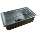 Picture of Stainless Steel Bain Marie Steam Insert Pan 1/1 size 150mm deep - 530mm x 325mm-SSTL225165- (EA)