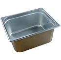 Picture of Stainless Steel Bain Marie Steam Insert Pan 1/2 size 150mm deep - 325mm x 265mm-SSTL225176- (EA)