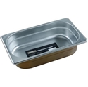 Picture of Stainless Steel Bain Marie Steam Insert Pan 1/4 size 65mm deep - 265mm x 162mm-SSTL225184- (EA)