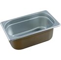 Picture of Stainless Steel Bain Marie Steam Insert Pan 1/4 size 100mm deep - 265mm x 162mm-SSTL225185- (EA)