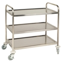 Picture of Stainless Clearing Trolley 3 tier 855H x 810W x 455D-SSTL226100- (EA)