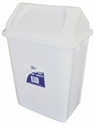 Picture of 20lt Swing Top Tidy Bin White Plastic-BINS386115- (EA)