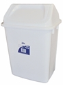 Picture of 30lt Swing Top Tidy Bin White Plastic-BINS386205- (EA)