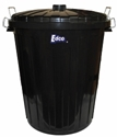 Picture of Garbage Bin Black & Lid 73LT Plastic -BINS386300- (EA)