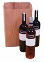 Picture of Paper Bag Brown 3 Bottle 385mmx 245mm + 90mm-BROB059800- (SLV-250)