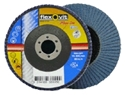 Picture of Flap Disks  100mm (4in) x 16mm  40grit   Blue (Zirconia) - FLEXOVIT-DISK763200- (EA)