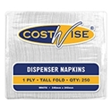Picture of Dispenser Napkin compact Tall Fold 1 Ply White-NAPK180500- (CTN-5000)