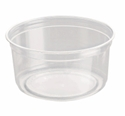 Picture of Clear Round P.E.T. Deli Container 355ml 12oz-PCON144510- (SLV-25)