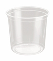 Picture of Clear Round P.E.T. Deli Container 710ml 24oz-PCON144530- (SLV-25)
