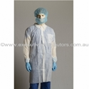 Picture of Gown Polypropylene Labcoat No Pocket WHITE-APPR495220- (CTN-100)