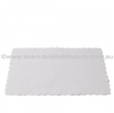 Picture of Premium Placemats Small White Scalloped Edge Paper 355 x 240mm-DOYL189211- (SLV-500)