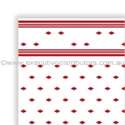 """Picture of Table Cloth/Cover Roll Paper""""Red Tile Pattern"""" 30mt x 1.1mt-DOYL191074- (ROLL)"""