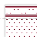 """Picture of Table Cloth/Cover Roll Paper""""Wine Red Tile Pattern"""" 30mt x 1.1mt-DOYL191076- (ROLL)"""