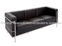 Picture of Visitors Lounge  - Leather Look PU Finish -Chrome Frame - 3 Seater-FURN357318- (EA)