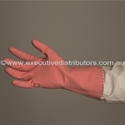 Picture of Gloves Silverlined Rubber Pink-GLOV474870- (CTN-144)