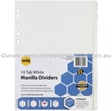Picture of A4 10 Tab Paper Divider set - White-STAT349820- (EA)