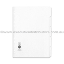 Picture of A4 5 Tab Paper Divider set - White-STAT349824- (EA)