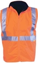 Picture of Safety Vest Fleece Lined High Vis Orange / Navy with Reflective Tape-CLTH831930- (EA)