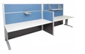 Picture of Complete 2 Person Workstation- 3000mm Wide Desk, Including 2 x 1650mm High Screens and Centre Screen-FURN420600- (EA)
