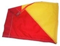 Picture of Mesh Safety Flag Red/Yellow 450mm x 450mm on Timber Pole-HARD738955- (EA)