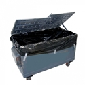 Picture of Black 3m3 Industrial Bin liners 1.8 + 1.7 x 3m (20/roll)-MPAC619584- (ROLL)