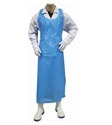 Picture of Apron Polythene Disposable 810x1250mm Blue - Hanging / Tear Off -APPR494105- (CTN-500)