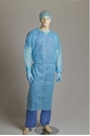 Picture of Gown Polypropylene Clinical White - One Size Fits Most-APPR495225- (CTN-100)