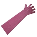 Picture of Gloves Veterinary Polyethylene 90cm Unisize red disposable-GLOV476500- (BOX-100)