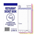 """Picture of """"Restaurant Docket Books Triplicate with seperate """"""""Drinks"""""""" section 50's""""-DKTB338401- (CTN-100)"""