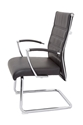 Picture of High Back Visitor Chair - Chrome Frame and Arms -  Black Leather Look seat and Back-FURN357297- (EA)