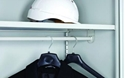 Picture of Shelf and Coat Rail Suits 910mm Wide Metal Cupboards - Silver Grey-FURN358411- (EA)
