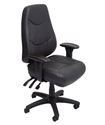 Picture of Executive Chair -24/7 Use 150kg- Ergonomic, A Grade Leather, Heavy Duty - Black-FURN358718- (EA)