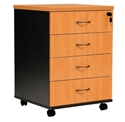 Picture of Mobile Pedestal - 4 drawer - 690 x 465 447mm Lockable-FURN358518- (EA)