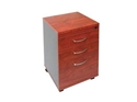 Picture of Mobile 3 Drawer Pedestal (2 Box, 1 File) - Appletree / Ironstone Coloured - Managers Range -FURN360423- (EA)