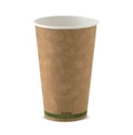 Picture of 16oz KRAFT single wall Biopak Coffee Cup-BIOD077031- (CTN-1000)