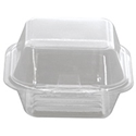 Picture of Clear Plastic Showcase Burger Clam Large KRH1 130x130x70mm-HCON149849- (SLV-100)