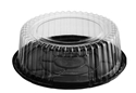 Picture of Cake Dome Combo-Pak 198mm Dia x 75mm High Black Base and Clear Lid-CAKE147401- (SLV-200)