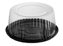 Picture of **DISCONTINUED ITEM**Cake Dome (Clear) & Black Base 210x100(H)-CAKE147450- (CTN-200)